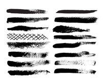 Colección de movimientos naturales del cepillo. Fotografía de archivo