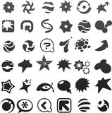 colección de muchos iconos abstractos negros - 6 stock de ilustración