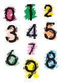 Colección de números del grunge Fotografía de archivo libre de regalías