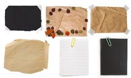 Colección de notas de papel Imágenes de archivo libres de regalías