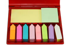 Colección de notas pegajosas coloridas Foto de archivo libre de regalías