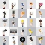 Colección de objetos del ejemplo de la tecnología ilustración del vector