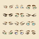 Colección de ojos de la mujer Imagen de archivo libre de regalías