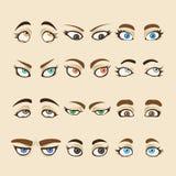 Colección de ojos de la mujer Imágenes de archivo libres de regalías