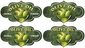 Colección de Olive Oil Labels stock de ilustración