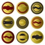 Colección de oro de las escrituras de la etiqueta stock de ilustración