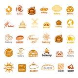 Colección de panadería de los logotipos del vector Fotografía de archivo