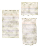 Colección de papel de la libreta - rasgada y sucia Fotos de archivo libres de regalías