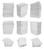 Colección de papel de la pila Fotos de archivo