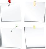 Colección de papel de nota Foto de archivo