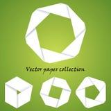 Colección de papel del vector Imagen de archivo libre de regalías