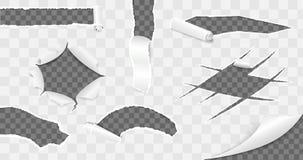 Colección de papel rasgada Ilustración del vector Foto de archivo libre de regalías
