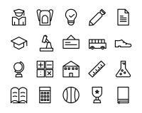 Colección de paquete del icono de la escuela incluya al ilustrador del fichero EPS 8 ilustración del vector