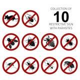 Colección de 10 parásitos stock de ilustración