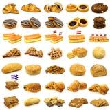 Colección de pasteles cocidos al horno deliciosos foto de archivo libre de regalías
