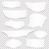 colección de pedazos del Libro Blanco stock de ilustración