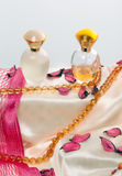 Colección de perfumes de las señoras Foto de archivo libre de regalías