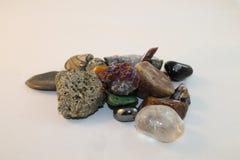 Colección de piedras preciosas curativas del poder Imagen de archivo libre de regalías