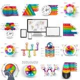 Colección de plantilla infographic del diseño del vector stock de ilustración