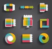 Colección de plantillas de Infographic para el negocio Fotografía de archivo libre de regalías
