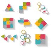 Colección de plantillas de Infographic para el negocio Imagen de archivo