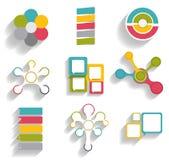 Colección de plantillas de Infographic para el negocio Fotografía de archivo