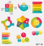 Colección de plantillas de Infographic para el vector Illustra del negocio stock de ilustración