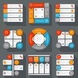 Colección de plantillas del diseño del infographics Fotografía de archivo libre de regalías