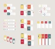 Colección de plantillas del diseño del infographics Concepto del negocio con 4 opciones Fotografía de archivo