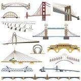 Colección de puentes del vector Fotografía de archivo