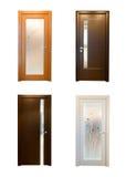 Colección de puertas de madera foto de archivo