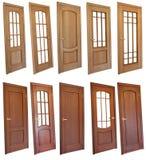 Colección de puertas de madera fotografía de archivo