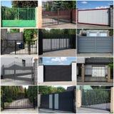 Colección de puertas del metal Imagenes de archivo