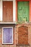 Colección de puertas y de ventanas Imagen de archivo libre de regalías