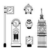 Colección de reloj Fotografía de archivo libre de regalías