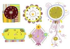 Colección de relojes ilustración del vector
