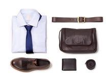 Colección de ropa de la oficina aislada en el fondo blanco Imagen de archivo libre de regalías