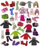 Colección de ropa de los niños Foto de archivo libre de regalías