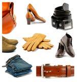 Colección de ropa, de zapatos y de accesorios Imagenes de archivo