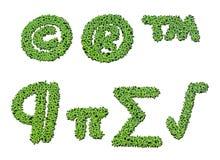 Colección de símbolos de letra del alfabeto de la lenteja de agua Fotos de archivo libres de regalías