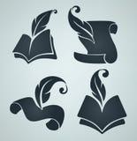 Colección de símbolos del libro Imagen de archivo libre de regalías