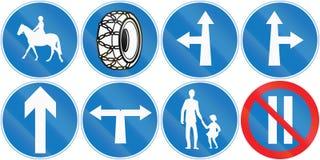 Colección de señales de tráfico chipriotas libre illustration
