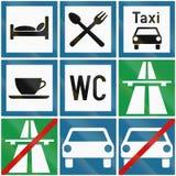 Colección de señales de tráfico croatas libre illustration