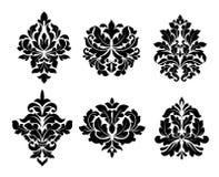 Colección de seis diversos diseños del arabesque ilustración del vector