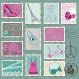 Colección de sello de la manera Imágenes de archivo libres de regalías