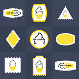 Colección de sello del helado ilustración del vector