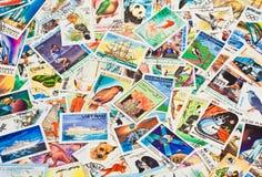 Colección de sellos Fotografía de archivo