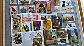 Colección de sellos de Israel Fotografía de archivo libre de regalías