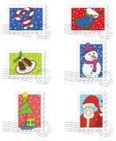 Colección de sellos de la Navidad Ilustración del Vector