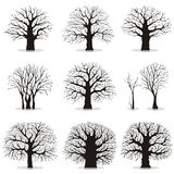 Colección de siluetas de los árboles ilustración del vector